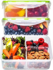 Fit Strong & Healthy Bento Box Lunch Containers