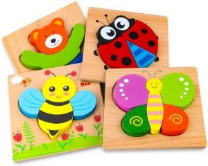 SKYFIELD Wooden Animal Puzzles