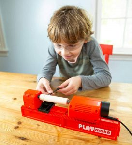 HearthSong PLAYmake Kids' 4-in-1 Woodshop Carpentry Cool Tool