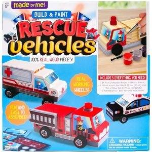 Made By Me Rescue VEHICLES by Horizon Group the USA Best Woodworking Kits For Kids